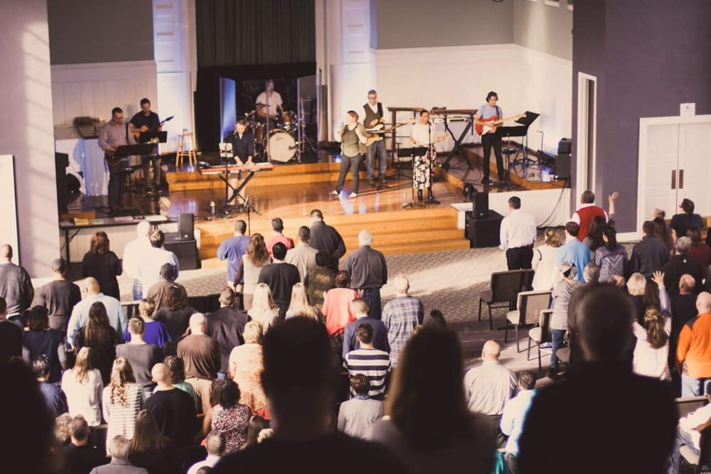 Worship service at Garden City Church in Highland Square